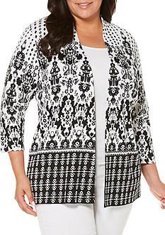 Rafaella Plus Size Ornate Iron Cardigan