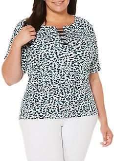 Rafaella Plus Size Soft Breezy Top