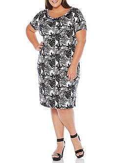 Rafaella Plus Size Tropical Ferns Dress