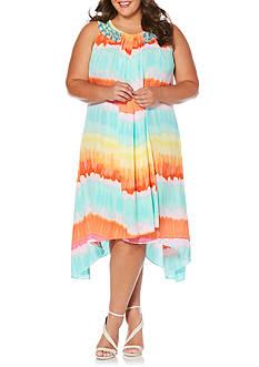 Rafaella Plus Size Stripe Beaded Dress