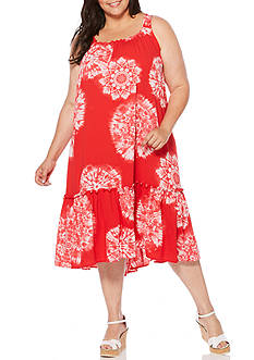 Rafaella Plus Size Berry Bursts Dress