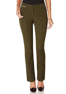 Rafaella Petite Size Ridge Twill Comfort Fit Pull-On Pant