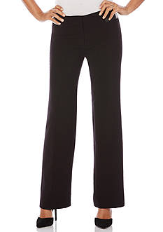 Rafaella Petite Size Luxe Double Weave Classic Fit Pant