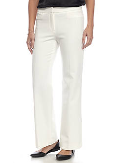 Rafaella Petite Size Lux Double Weave Classic Fit Pant