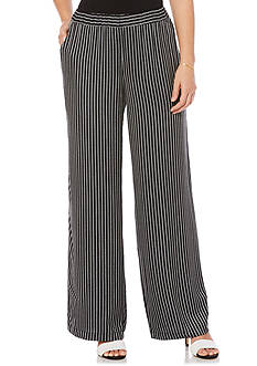 Rafaella Petite Size Woven Stripe Texture Pull on Pant