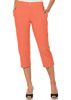 Rafaella Petite Poplin Garment Wash Crop Pants