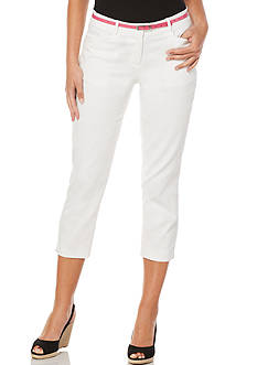 Rafaella Petite Size Stretch Pique Capri Pants