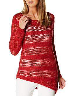 Rafaella Petite Size Long Sleeve Sequin Sweater