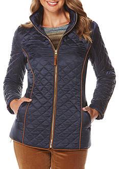 Rafaella Solid Puffer Barn Jacket