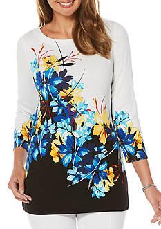 Rafaella Petite Size Floral Printed Tunic