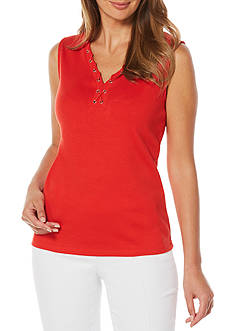 Rafaella Petite Sleeveless V-neck Tank