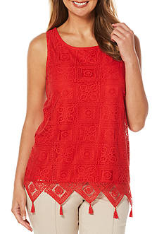 Rafaella Petite Sleeveless Lace Overlay Top