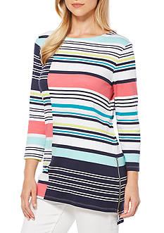 Rafaella Petite Size Stripe Printed Tunic