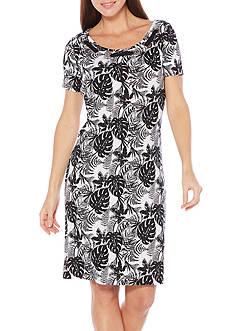 Rafaella Petite Tropical Ferns Dress