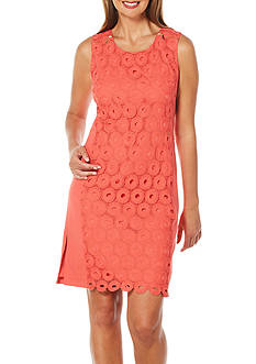 Rafaella Petite Sleeveless Solid Circular Lace Dress
