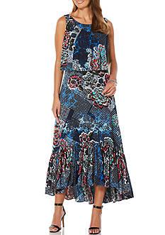 Rafaella Petite Bali Floral Sleeveless Dress