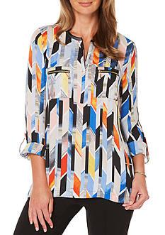 Rafaella Petite Size Stain Glass Stripe Top