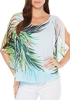Rafaella Petite Summer Palms Top