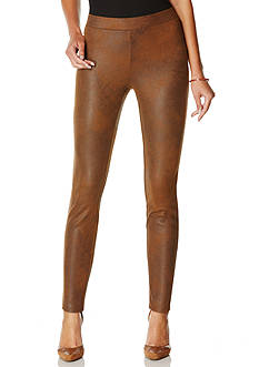 Rafaella Distressed Faux Suede Pants