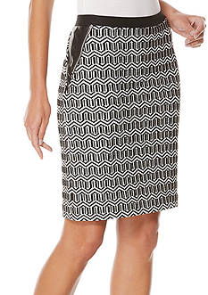 Rafaella Textured Pencil Skirt