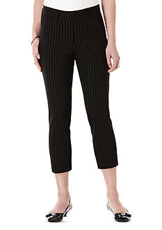 Rafaella Stripe Power Stretch Skinny Capri