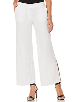 Rafaella Wide Leg Stretch Crepe Pants