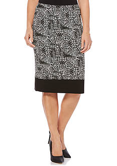 Rafaella Tile Printed Tube Skirt
