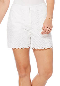 Rafaella Eyelet Scallop Shorts