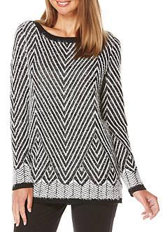 Rafaella Jacquard Pullover Sweater