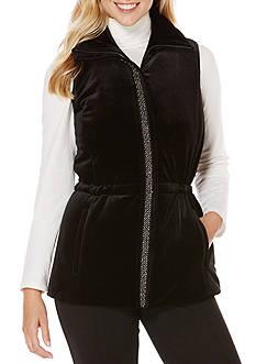 Rafaella Velvet Puffer Vest