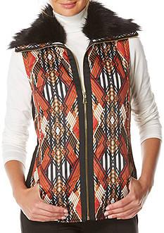 Rafaella Faux Fur Puffer Vest