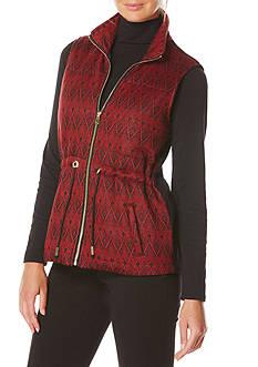 Rafaella Jacquard Puffer Vest