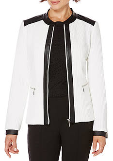 Rafaella Textured Grid Jacket