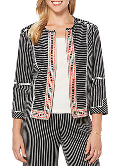Rafaella Textured Striped Jacket