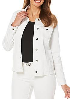 Rafaella Lace Back Denim Jacket