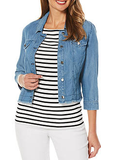 Rafaella Crop Jean Jacket