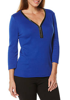 Rafaella Solid Rib Top