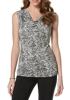 Rafaella Printed Cowl Neck Top