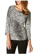 Rafaella Animal Print Top