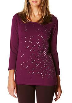 Rafaella Embellished Long Sleeve Top