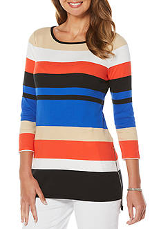 Rafaella Block Stripe Tunic