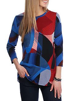 Rafaella Printed Modal Top