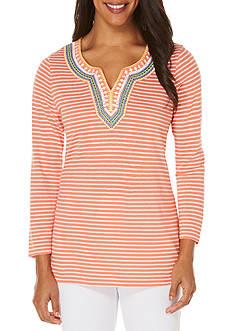 Rafaella Embellished Jersey Top
