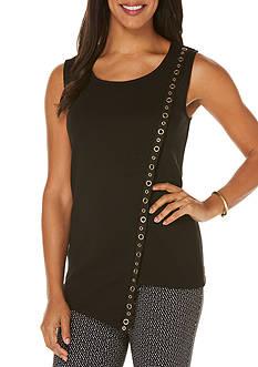 Rafaella Sleeveless Asymmetrical Knit Top
