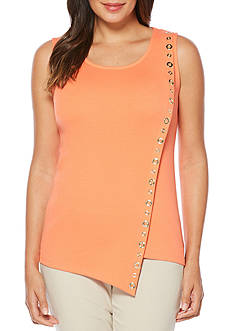 Rafaella Sleeveless Asymmetrical Knit Top