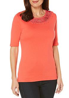 Rafaella Solid Knit Top