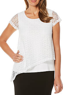 Rafaella Lace Overlay Top