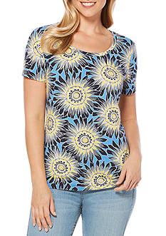 Rafaella Floral Printed Knit Tee