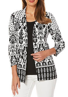 Rafaella Printed Knit Cardigan