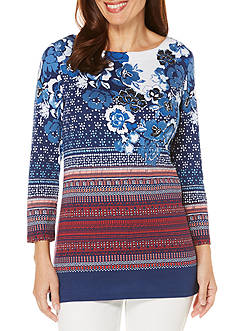 Rafaella Engineer Print Tunic